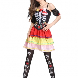 Day of the Dead Women's Costume Rack Suit