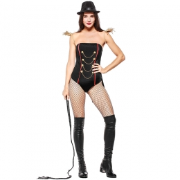Women Sexy Halloween Stage Opening Performance Uniform Tamer Or Magician Style