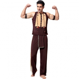 Men Funny Halloween Costumes Minority Indians Clothes
