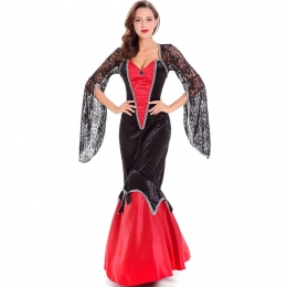 Women Halloween Vampire Costumes Countess Dress