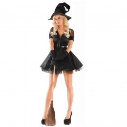 Witch Halloween Costumes Temperament Ghost Dress