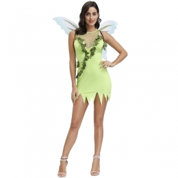 Fairy Tale Theme Halloween Costumes Green Forest Butterfly Fairy Style