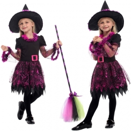 Girls Witch Costume Spider Web Yarn