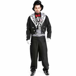 Men Scary Halloween Costumes Skeleton Zombie Male Knight Style