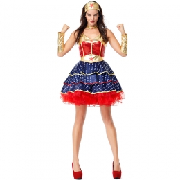 Women Halloween Costumes Superwoman Flying Man Clothes