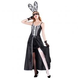 Sexy Halloween Costume Rabbit Long Dress