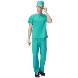 Men Halloween Costumes Cotton Nurse Doctor Uniform