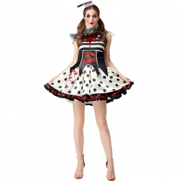 Horror Blood Clown Girl Circus Zombie Costume