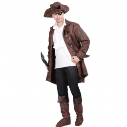 Men Halloween Costumes Pirates Of The Caribbean Suit