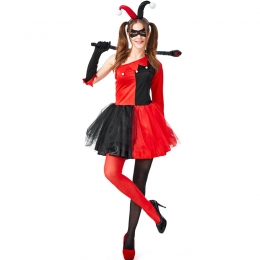 Adult Halloween Costumes Circus Clown Harley Quinn Clothes