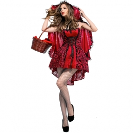 Women Sexy Halloween Costumes Little Red Riding Hood Dress Gothic Style