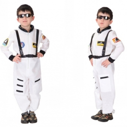 Kids Military Costume White Astronaut