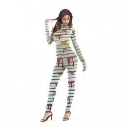 Scary Halloween Costumes Bandage Jumpsuit